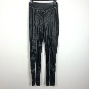 Sorella black faux leather high rise skinny pants